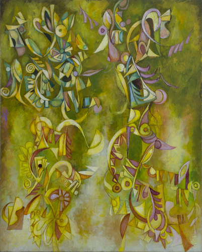 Morgan's Trees by Cedric Michael Cox 24 x 30 inches acrylic on canvas