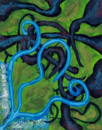 Caleb Ernst age 11 acrylic on canvas