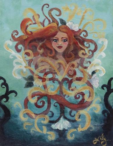 Lily Kroencke age 17 acrylic on canvas