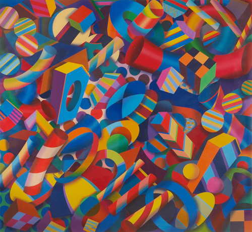 Tarrence Corbin, Carnival Escapade 2001acrylic on paper 70 x 76-inches