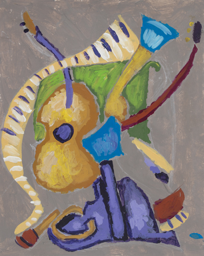Item No. 8  acrylic on paper 8.5 x 11