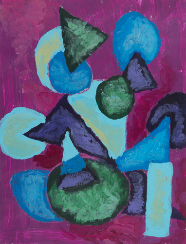 Item No 18 Acrylic on paper 8.5 x 11
