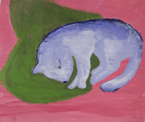 Item # 21 My Cat acrylic on paper 12 x 15 inches