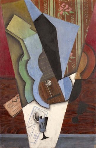 Abstraction guitar and glass 1913 by Juan Gris