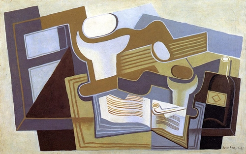 Guitar and Fruit Dish 1922 by Juan Gris