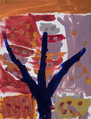 "K ""Autumn Tree"" ""10 x 8"" Acrylic on paper"