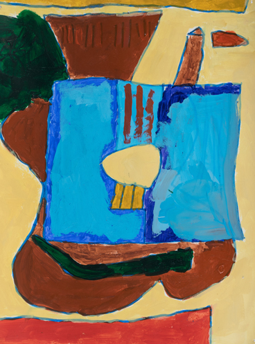 "Item No. 29 3rd grader ""Big Blue Guitar"" 10""x8"" Acrylic on paper Artwork inspired by the Spanish cubist painter Juan Gris"