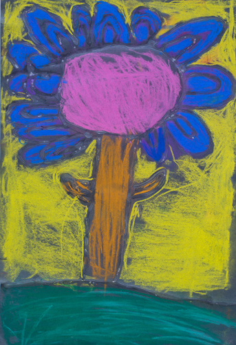 "Item No. 41 1st grade 18""x12"" Chalk pastel on paper"