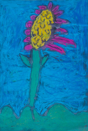 "Item No. 42 Kindergartner  18""x12"" Chalk pastel on paper"