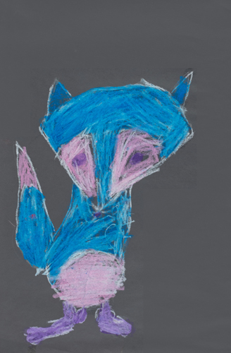 Item No. 9 Oil Pastel on paper 16 x 12 inches 2nd Grader at St. Francis Seraph School