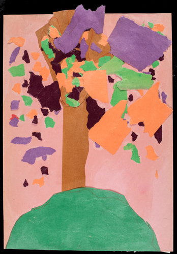 Item No. 16 Paper collage 16 x 12 inches Kindergartner at  St. Francis Seraph School