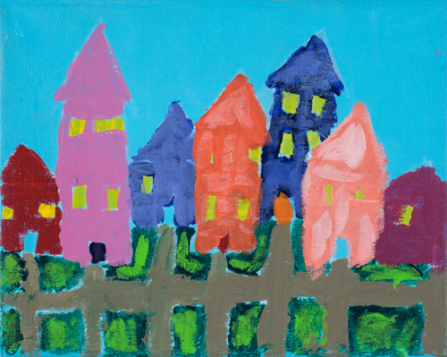 Item No. 6 Acrylic on canvas 8 x 10 inches 6th Grader at  St. Francis Seraph School
