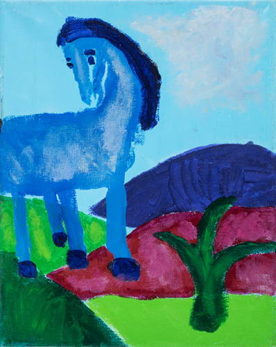 Item No. 2 Acrylic on canvas 10 x 8 inches 6th Grader at  St. Francis Seraph School