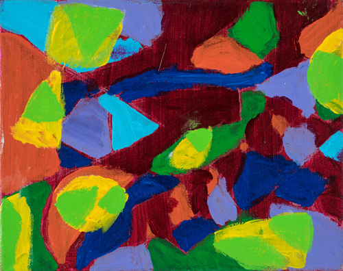 Item No. 4 Acrylic on canvas 10 x 8 inches 6th Grader at  St. Francis Seraph School