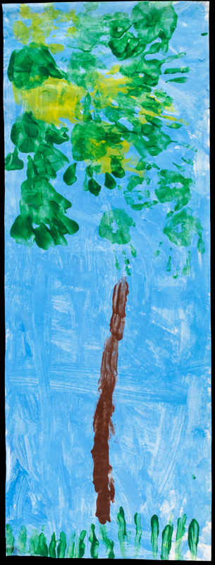 Item No. 12 Tempera on paper 35 x 13 inches Preschooler at St. Francis Seraph School