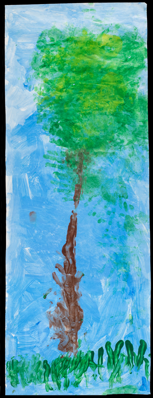 Item No. 13 Tempera on paper 35 x 13 inches Preschooler at  St. Francis Seraph School